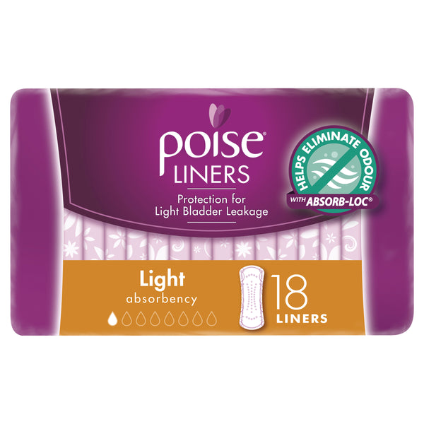 Poise Liners, Light, Extra Light Absorbency, 18 Liners