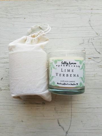 Lime Verbena Soy Candle- 10 oz Tumbler Jar