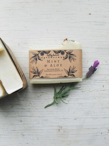 Mint & Aloe - Handmade Soap (100% Natural)