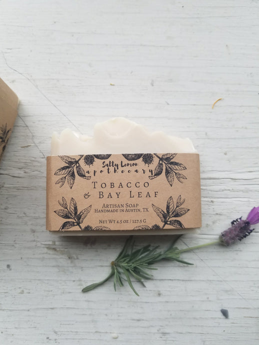Tobacco & Bay Leaf- Handmade Soap