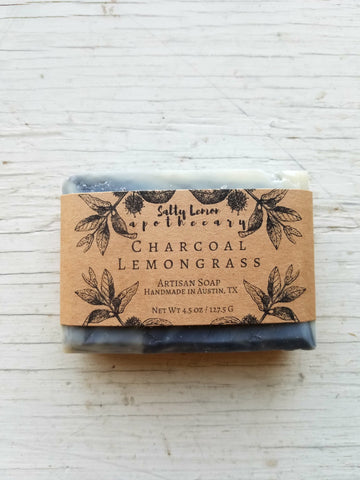 Charcoal Lemongrass- Handmade Soap (100% Natural)