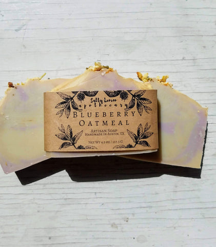 Blueberry Oatmeal- Handmade Soap