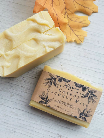 Carrot Coconut Milk- Handemade Soap (100% Natural)