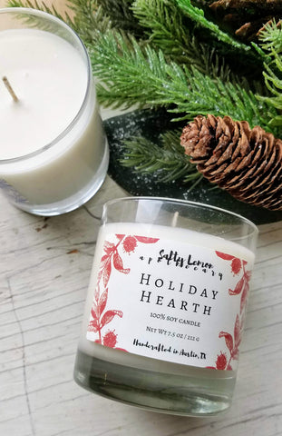 Holiday Hearth Soy Candle- 10 oz Tumbler Jar