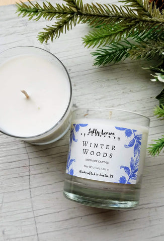 Winter Woods Soy Candle- 10 oz Tumbler Jar