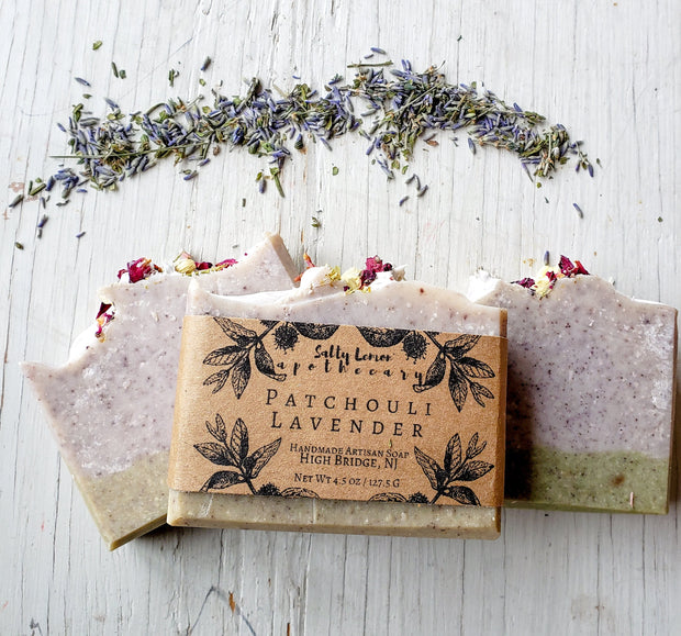 Patchouli Lavender with Coconut Milk- 100% Natural Handmade Soap 1