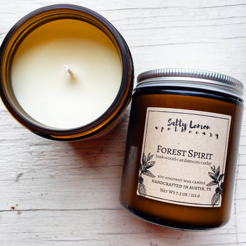 Forest Spirit Soy-Coconut Candle- 9 oz Amber Jar