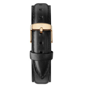 Kipling - Designer Watch Timepiece in Gold with Genuine Black Leather and Baton Style Face - Strap