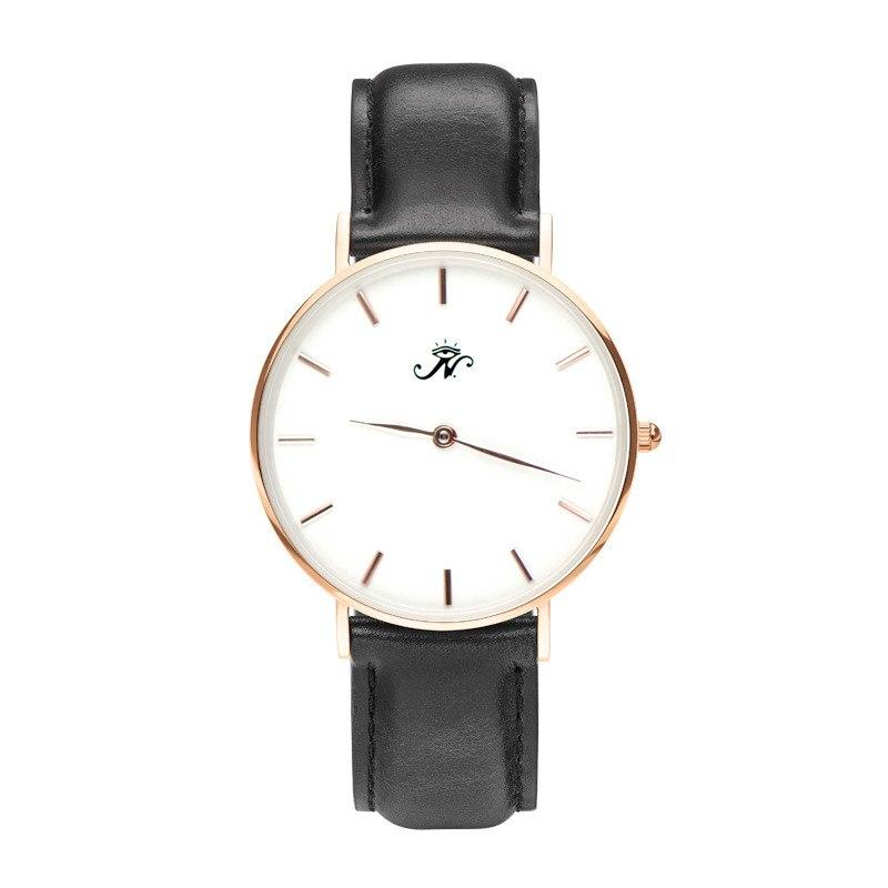 Kipling - Designer Watch Timepiece in Gold with Genuine Black Leather and Baton Style Face