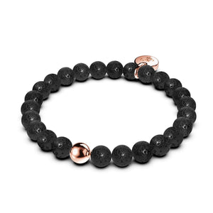 Pompéi | Lava Rock | Or rose 18 carats | Bracelet d'expression
