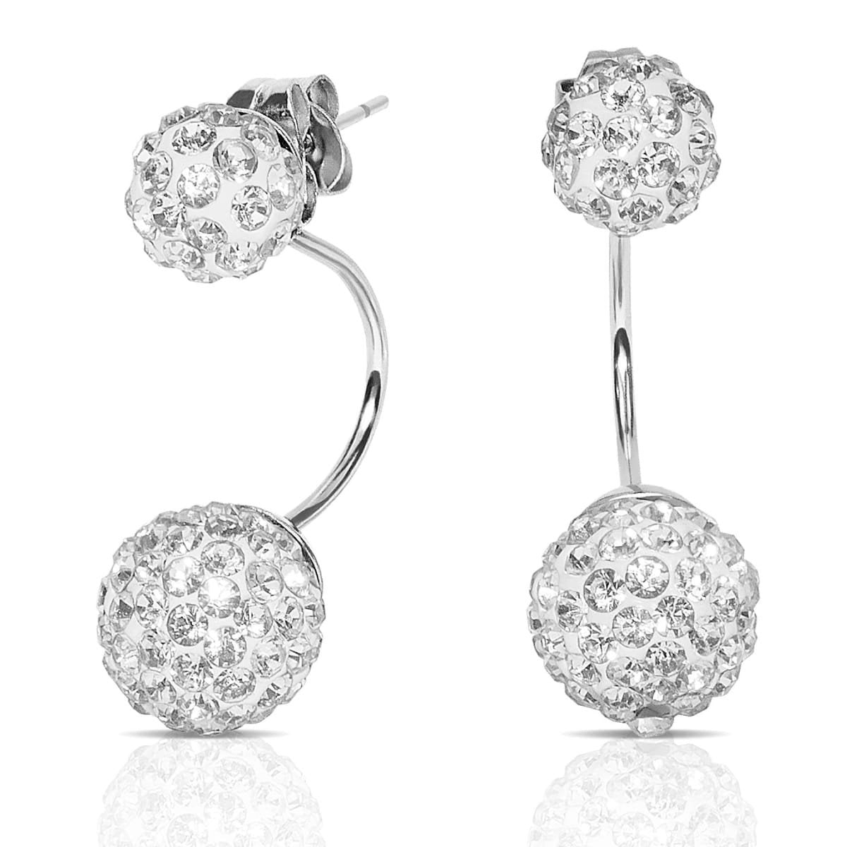 Crystal Kikiballa | Ear Jacket | Double Earrings