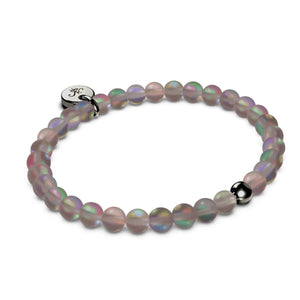 Chocolate | .925 Sterling Silver Gunmetal | Mermaid Glass Bead Bracelet