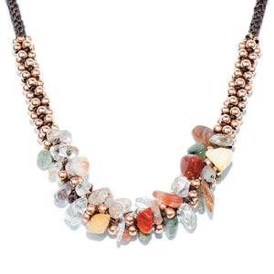 Cuprite & Rose Gold Terra Bella Stone Necklace