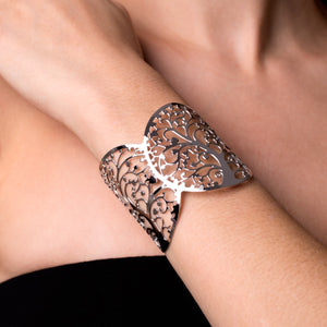 Silver | Tree Of Life | Laser Cut Cuff