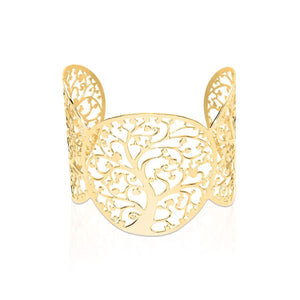 18k Gold | Tree Of Life | Laser Cut Cuff