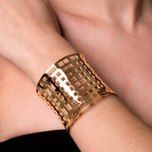 18k Gold | Lattice | Laser Cut Cuff