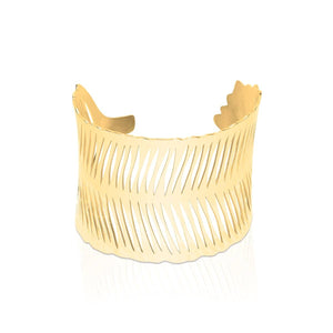 18k Gold | Palm Leaf | Laser Cut Cuff
