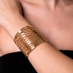 18k Gold | Energy | Laser Cut Cuff