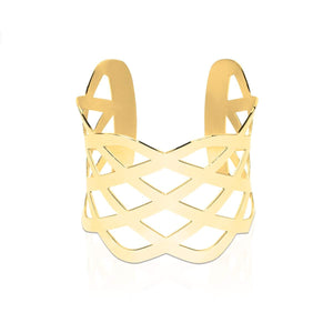 18k Gold | Ribbon | Laser Cut Cuff