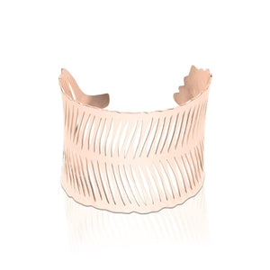 18k Rose Gold | Palm Leaf | Laser Cut Cuff
