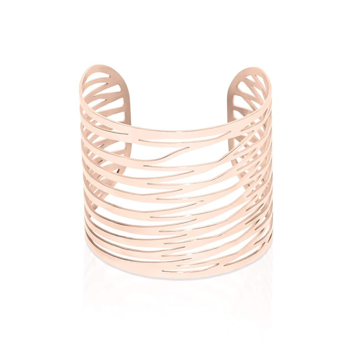18k Rose Gold | Energy | Laser Cut Cuff