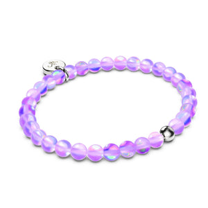 Lavender | Silver | Mermaid Glass Bead Bracelet