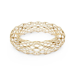 The GRID Bangle | Double Slim | 14k Gold Sterling