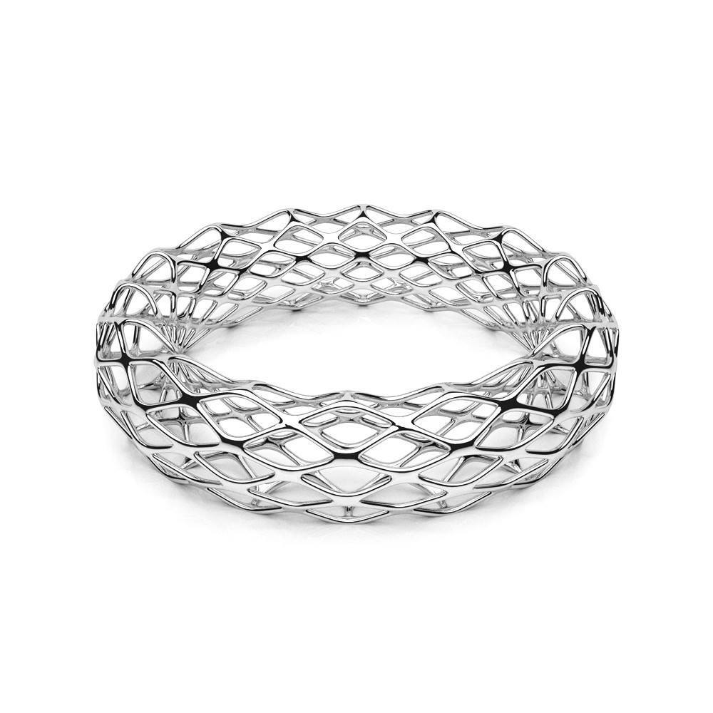 Le bracelet GRID | Double Slim | Platine sterling