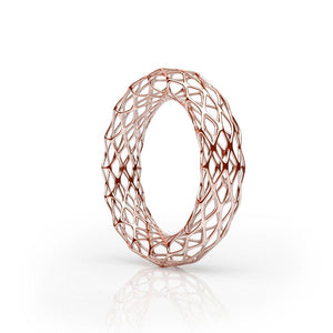 The GRID Bangle | Double Slim | 14k Rose Gold Sterling