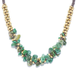African Green Jade & Gold Plated Terra Bella Necklace