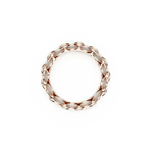 L'anneau GRID | Double Slim | Or rose 18 carats sterling