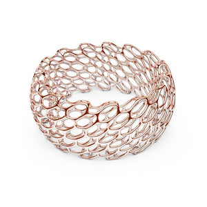 The HIVE Bangle | Double Wide | 14k Rose Gold Sterling