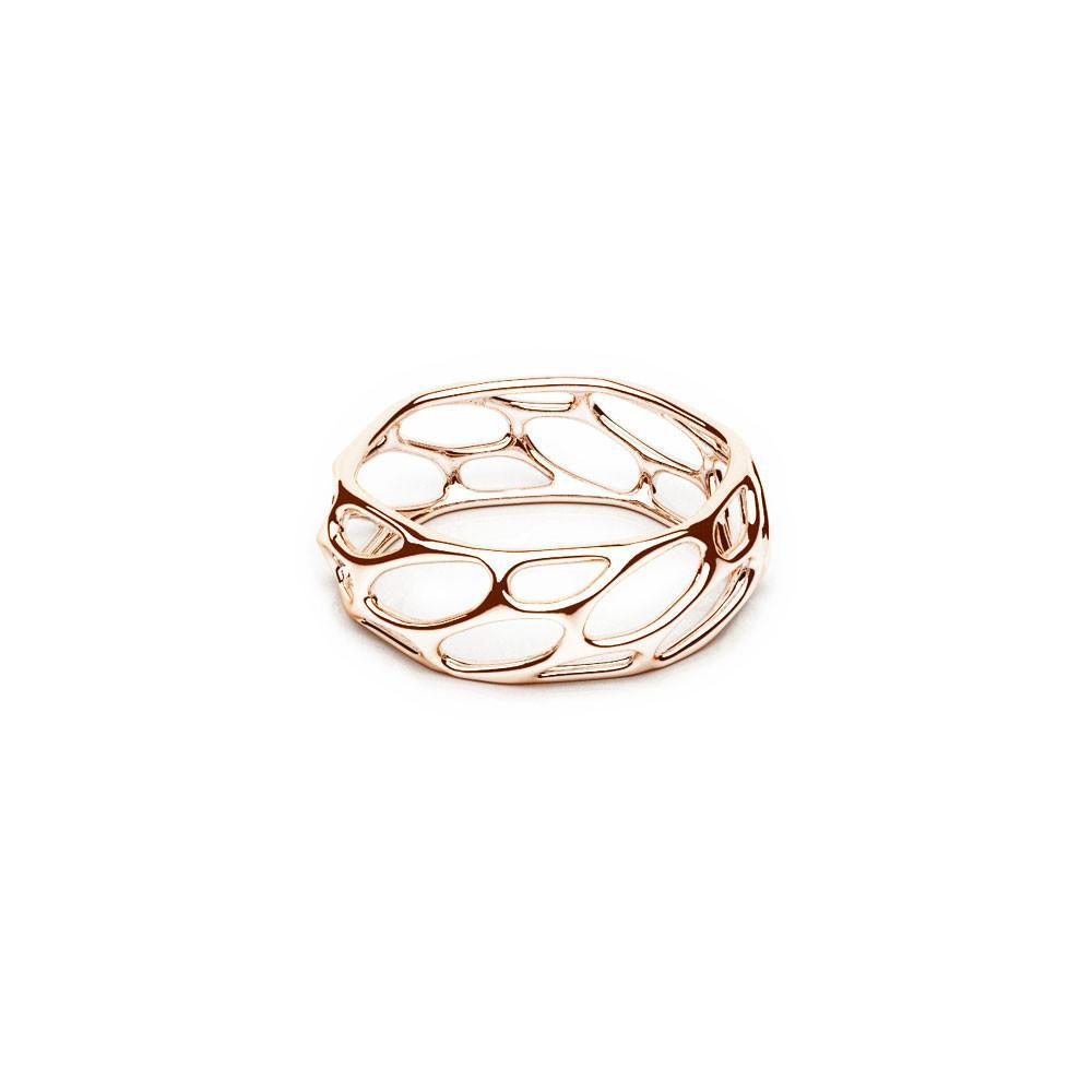 The HIVE Ring | Slim | Or rose 18 carats sterling