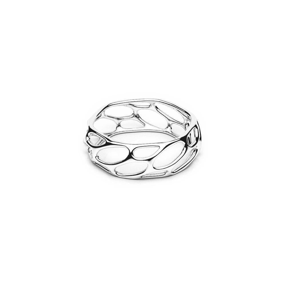 The HIVE Ring | Slim | Platine sterling