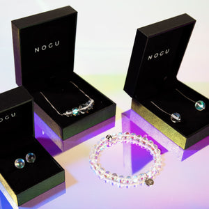 .925 Sterling Silver Rainbow Supernova Galaxy Glass | 4 Piece Gift Set
