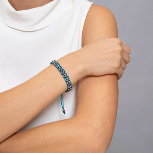 65 Links | Blue Kismet Bracelet