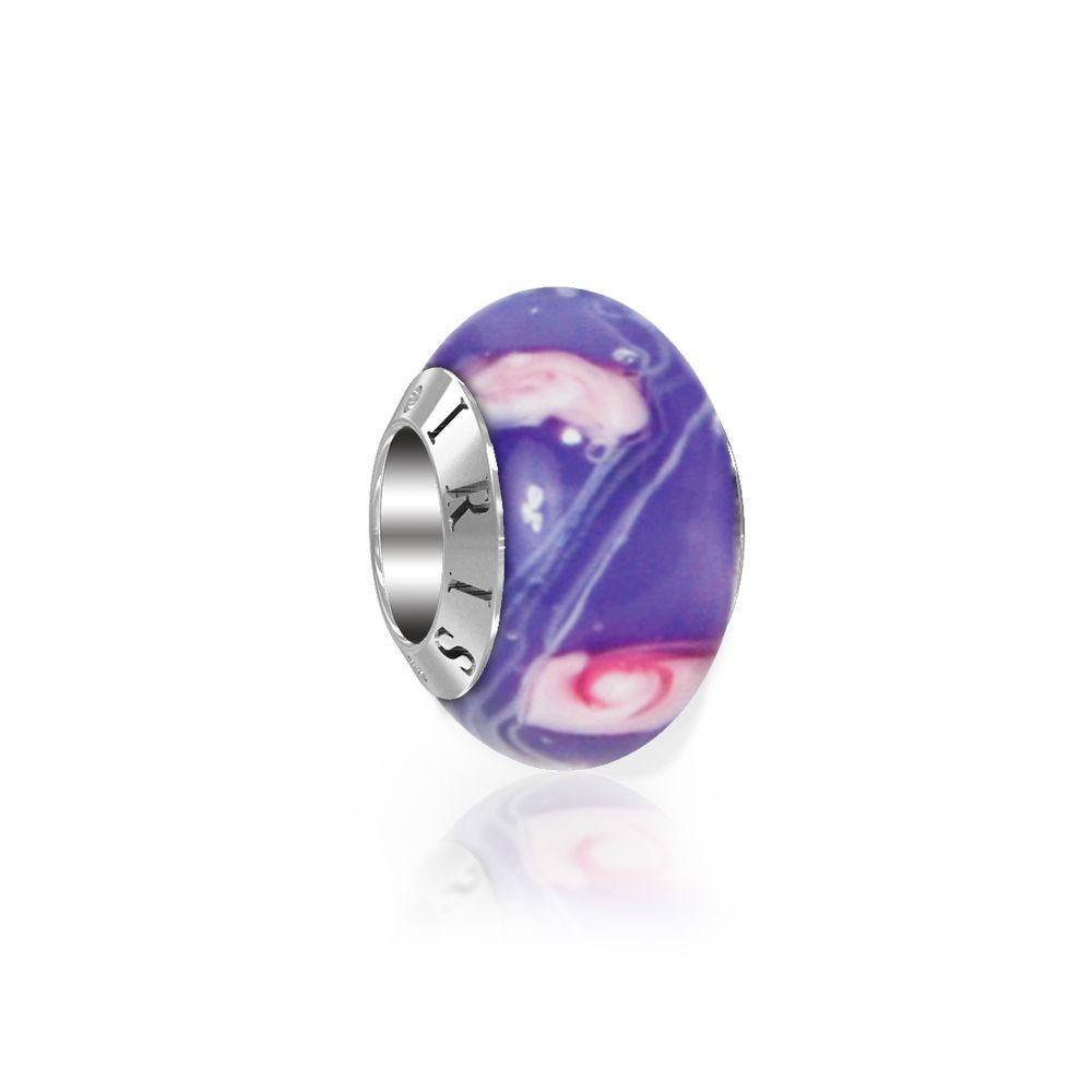 Scarlett - Violet Flower Murano Glass Bead from IRIS