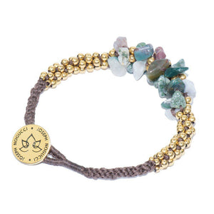 India Agate Terra Bella Bracelet 18k gold plated stainless steel