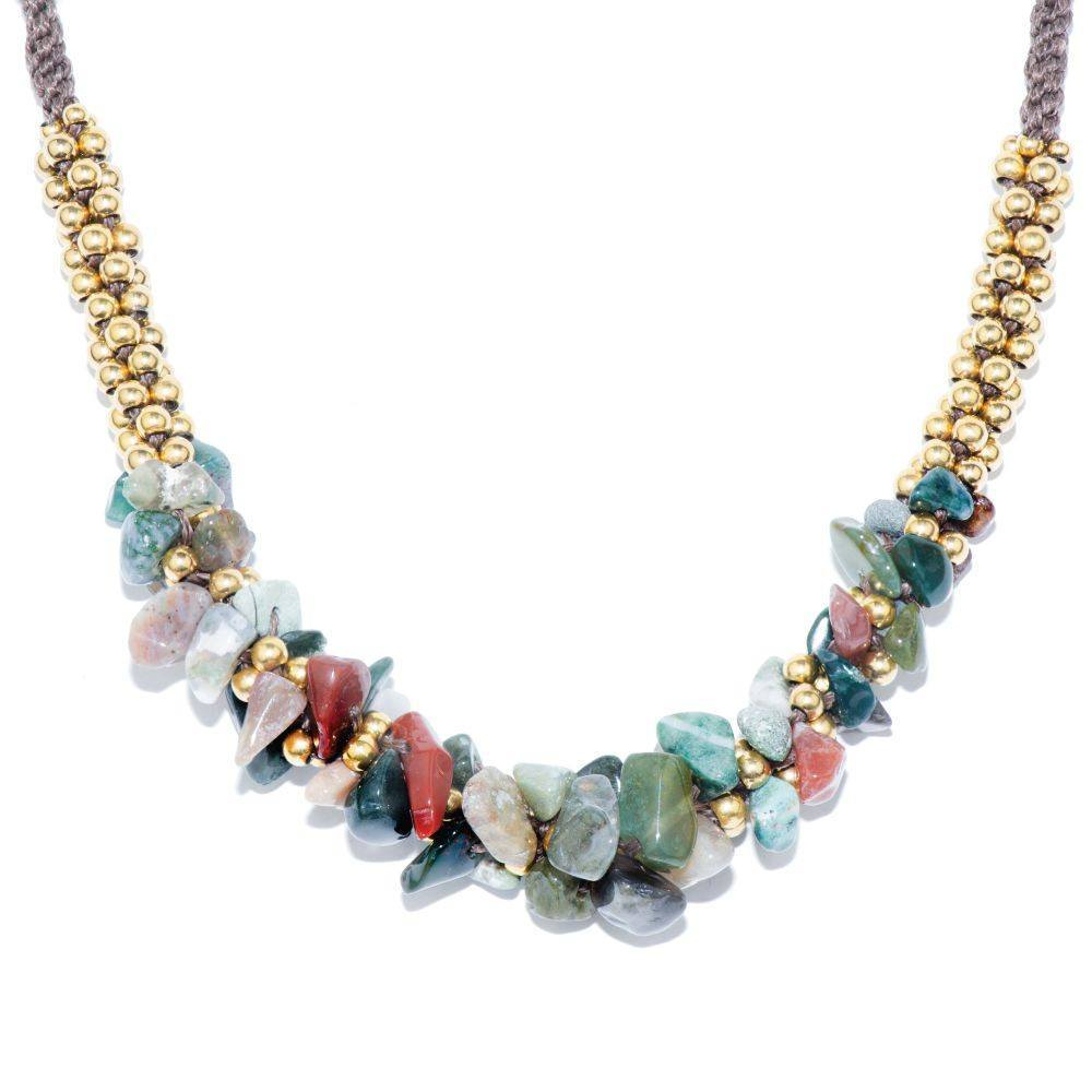 India Agate Stone Terra Bella Necklace
