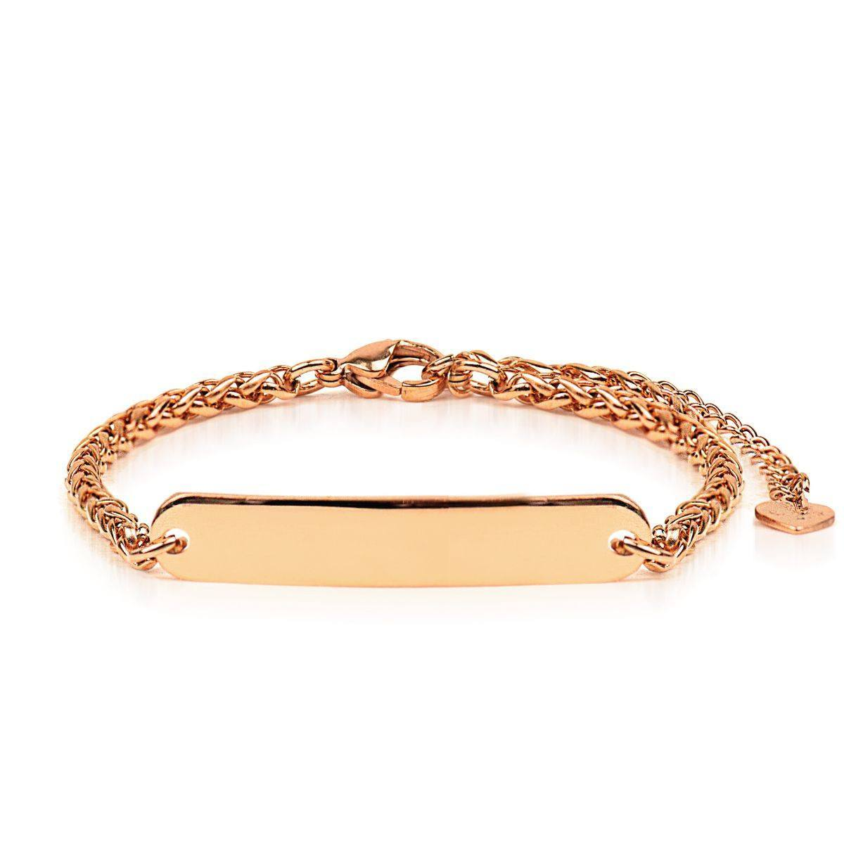 18k Rose Gold | Custom Engravable | Kindred Spirits Chain Bracelet