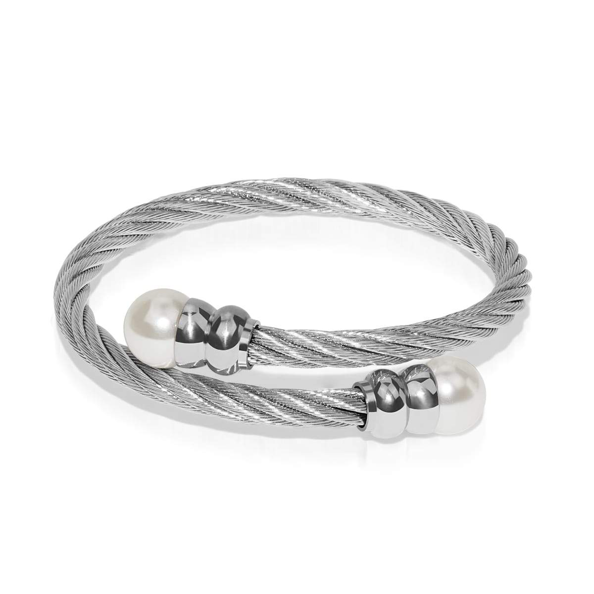 Circe | Silver | Pearl | Goddess Bangle