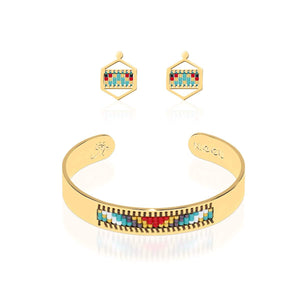 Palos Verdes Estates | Or 18 carats | Ensemble de boucles d'oreilles Boho Bangle