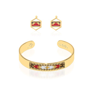 Palo Alto | 18k Gold | Boho Bangle Earring Set