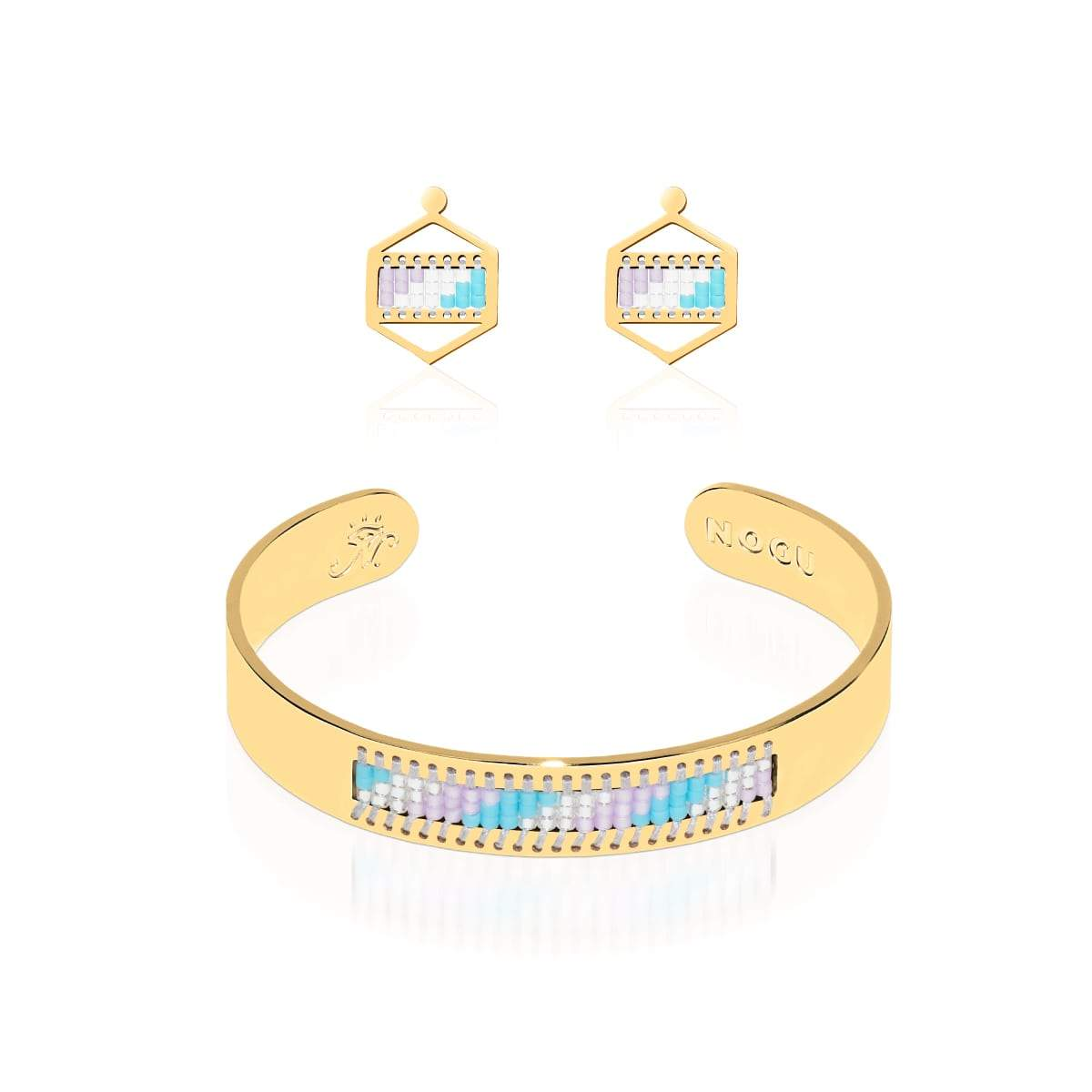 San Clemente | 18k Gold | Boho Bangle Earring Set