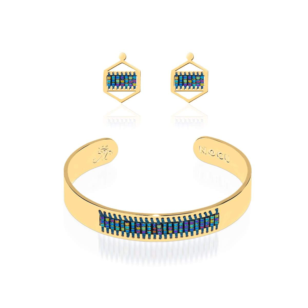 Manhattan Beach | Or 18 carats | Ensemble de boucles d'oreilles Boho Bangle