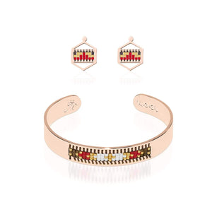Palo Alto | Or rose 18 carats | Ensemble de boucles d'oreilles Boho Bangle