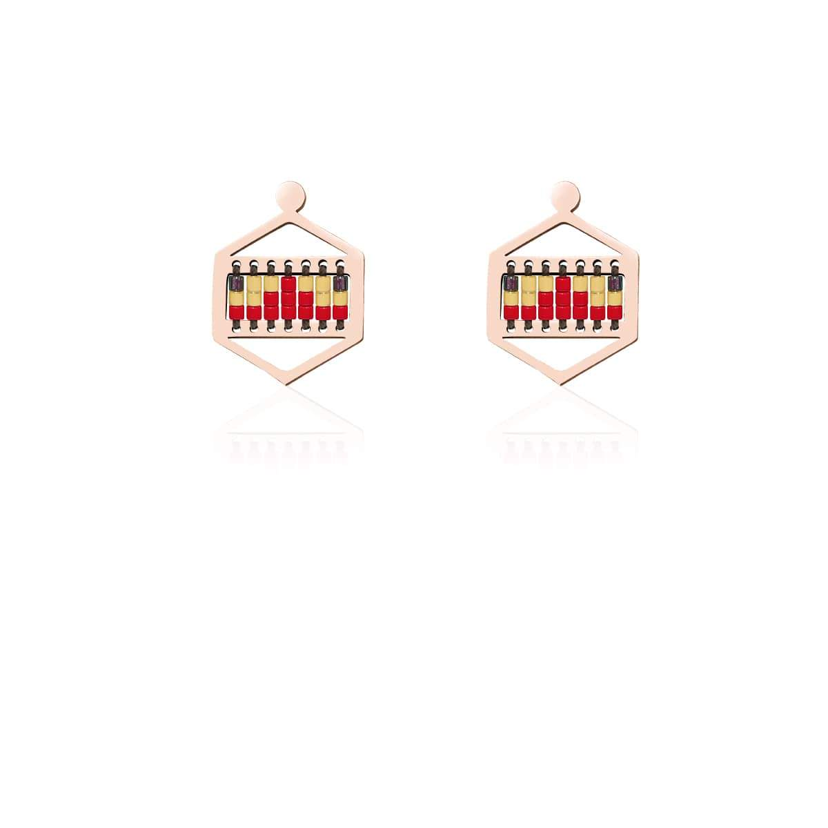 Palo Alto | 18k Rose Gold | Boho Earrings