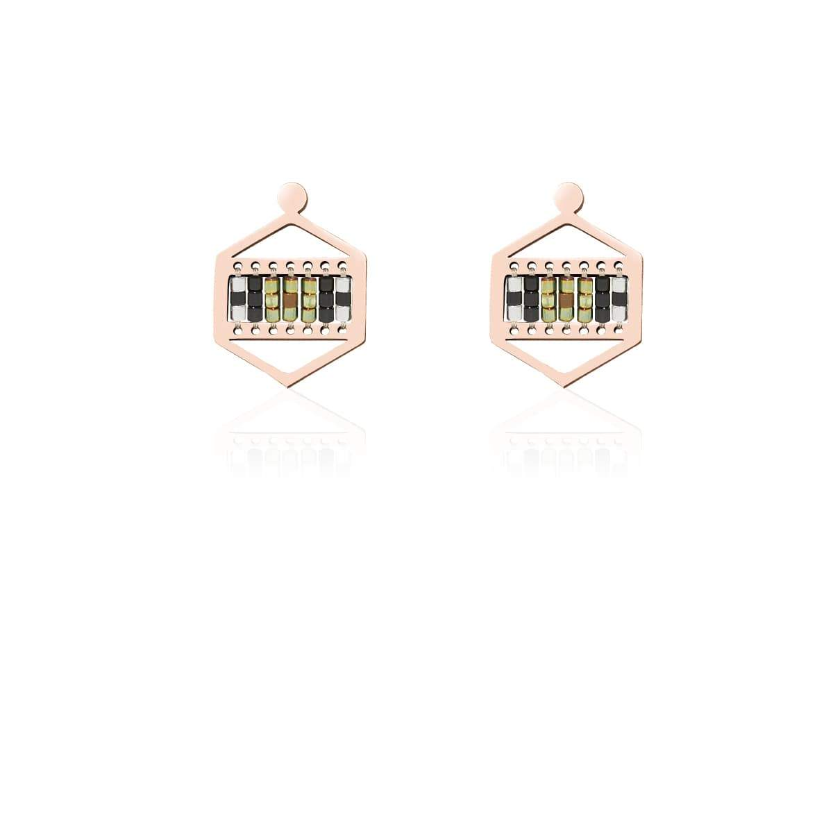 Rolling Hills | Or rose 18 carats | Boucles d'oreilles Boho