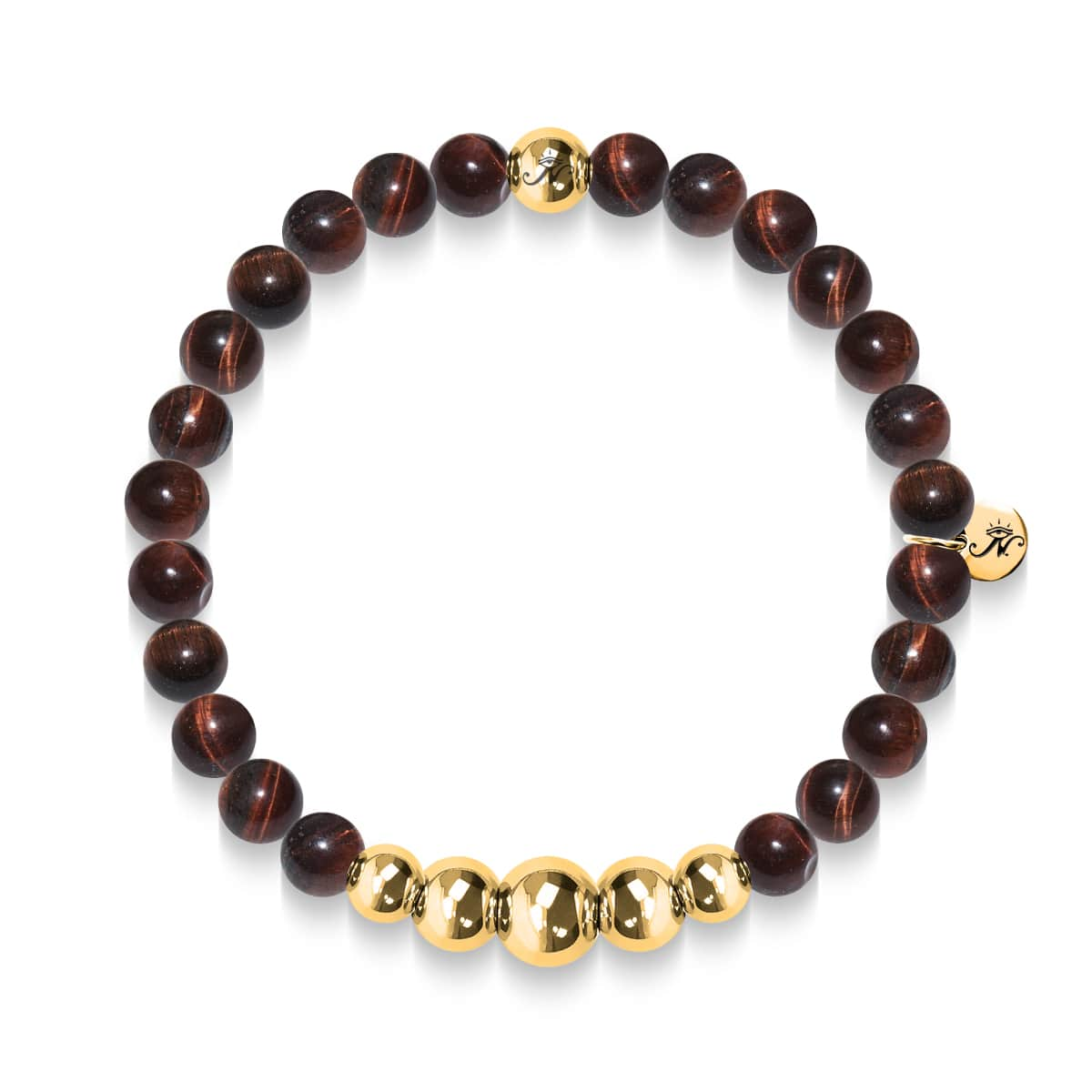 Passion | Gold Aura Red Tiger's Eye Bracelet