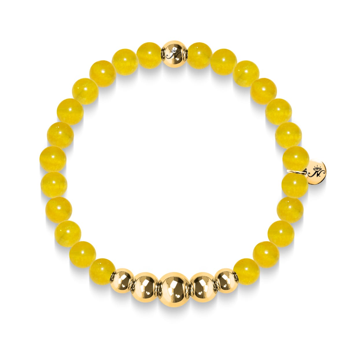 Intelligence | Gold Aura Yellow Jade Bracelet